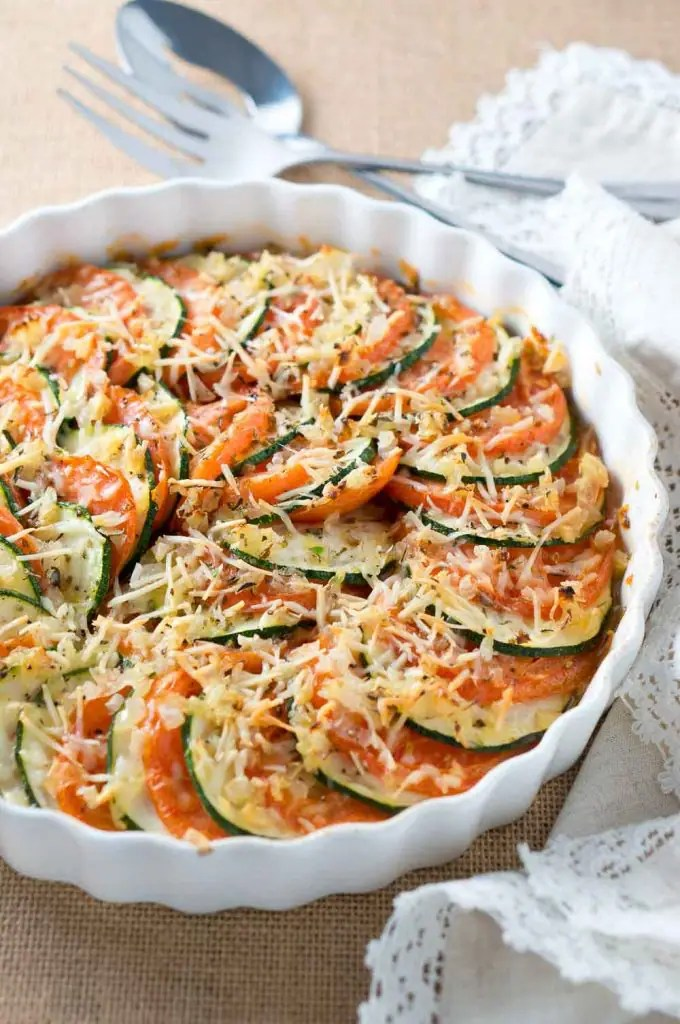 Parmesan Zucchini and Tomato Gratin-2