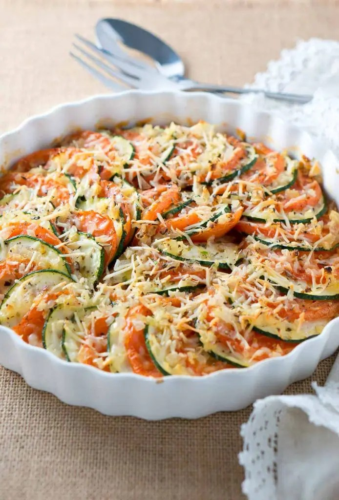 Parmesan Zucchini and Tomato Gratin-3