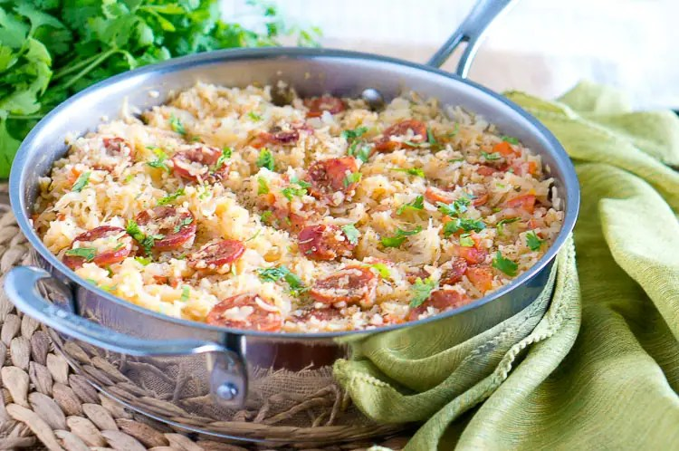 One Pot Sauerkraut and Sausage with Rice-4