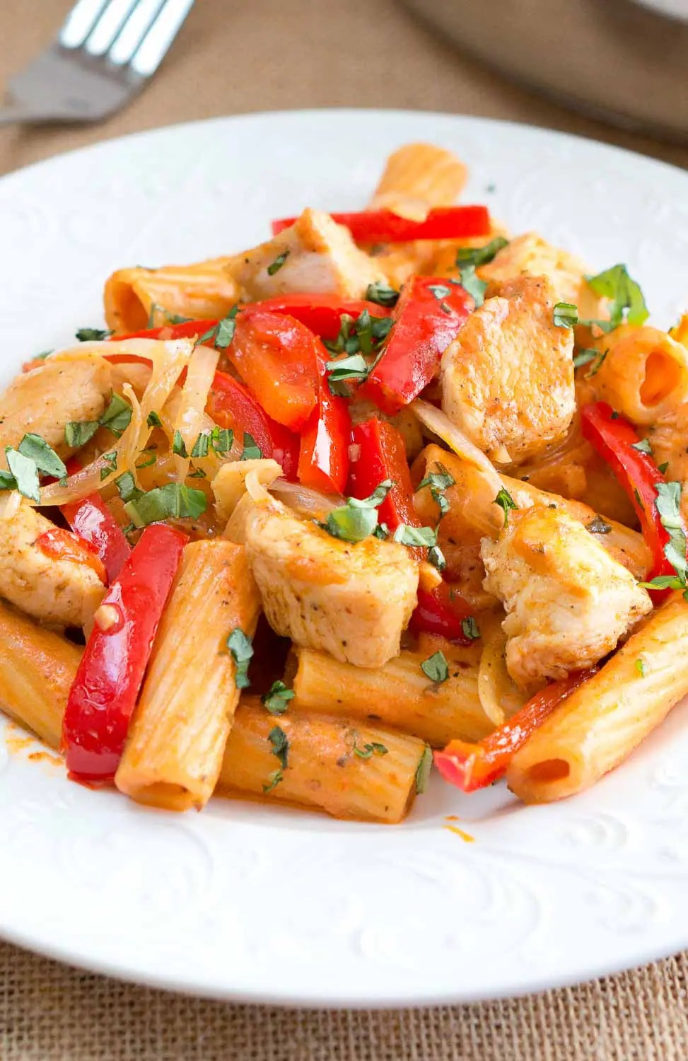 Spicy Chicken Riggies