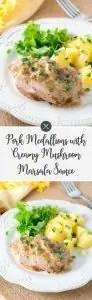 Pork Medallions with Creamy Mushroom Marsala Sauce