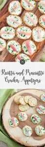 Ricotta and Prociutto Cracker Appetizer