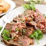 Steak with Spicy Mushroom Sauce