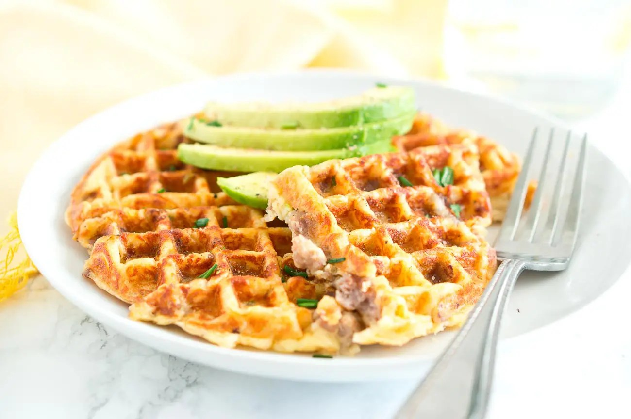 Sausage and Potato Waffles