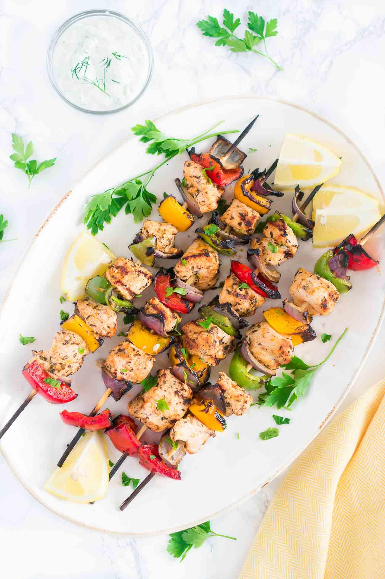 Grilled Mediterranean Chicken Kabobs