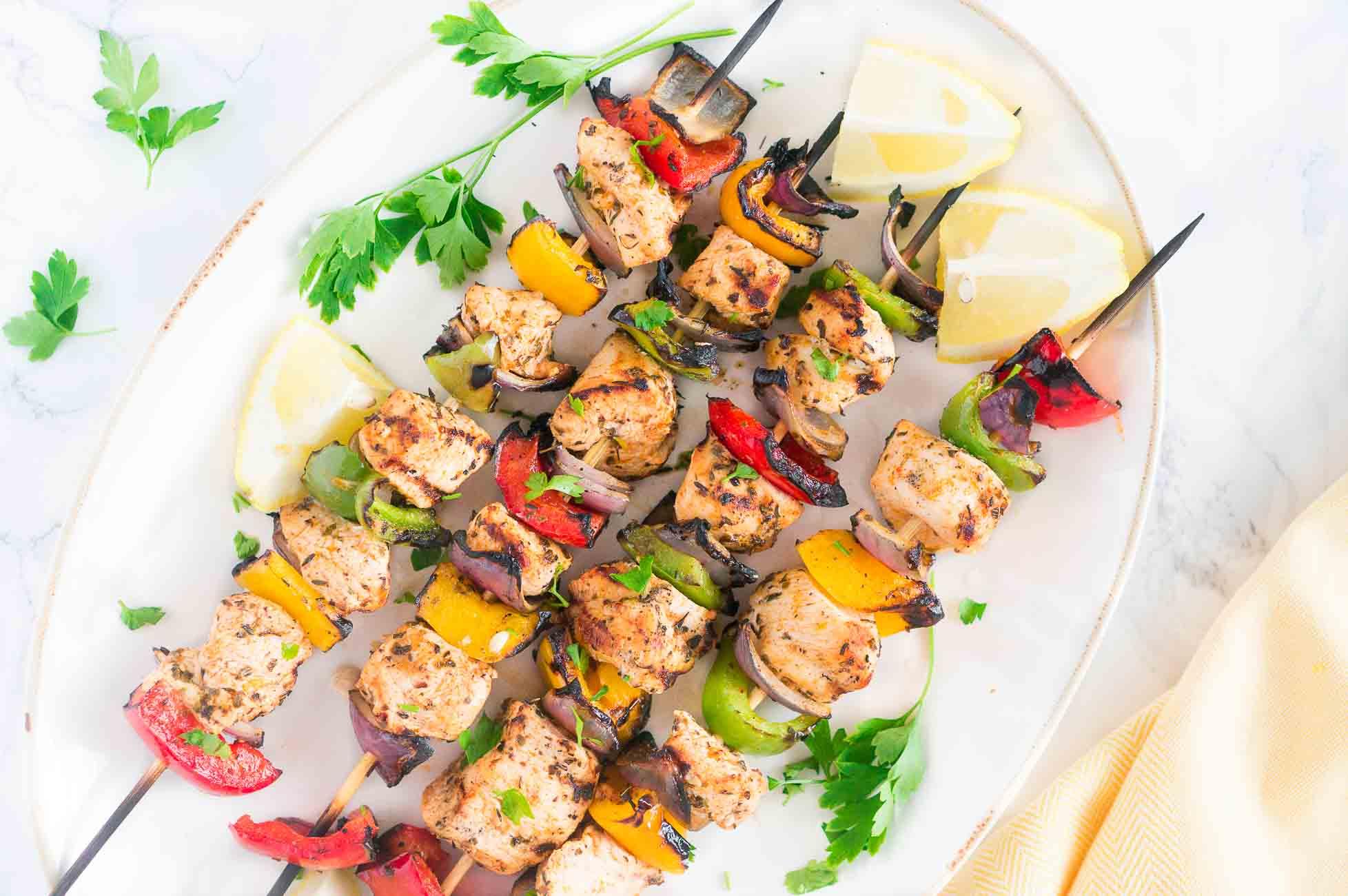 Mediterranean Chicken Kebabs - chicken kebab receipe