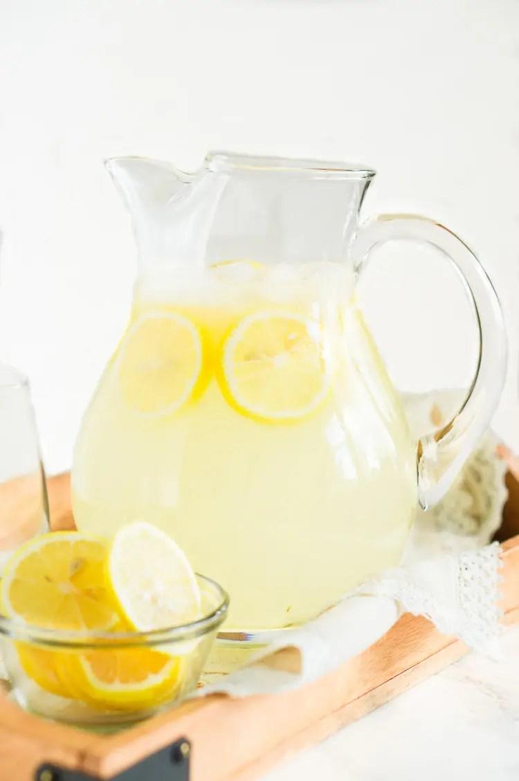 Homemade Lemonade with real lemons