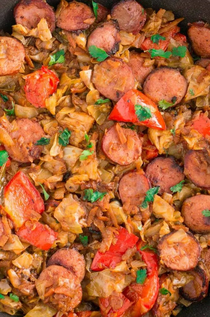 Low Carb Cabbage and Sausage