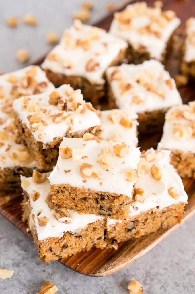 Gluten-Free Carrot Cake Bars