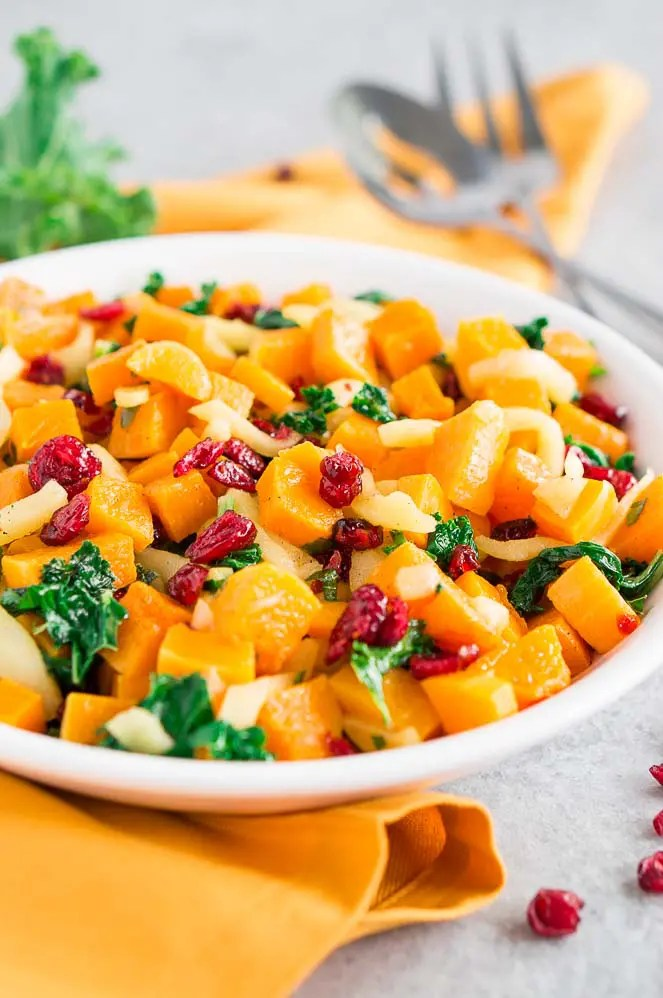 oven roasted butternut squash and apples
