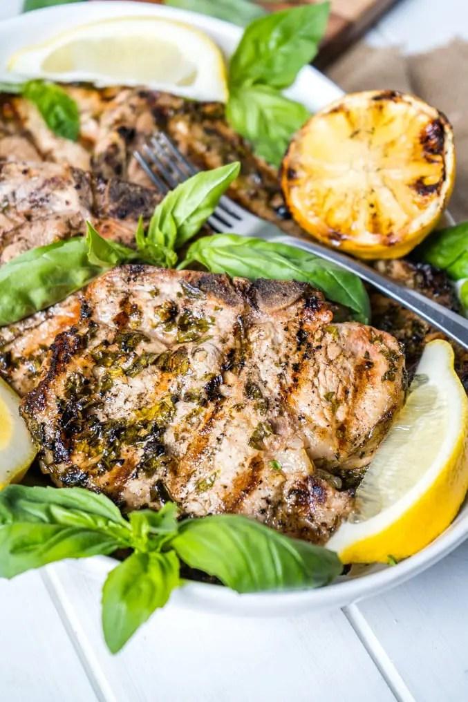 Lemon Basil Pork Chops