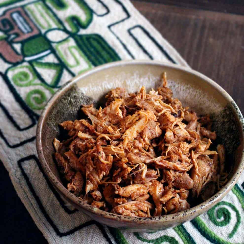 healthy freezer meals - Smoky Mexican Pulled Chicken