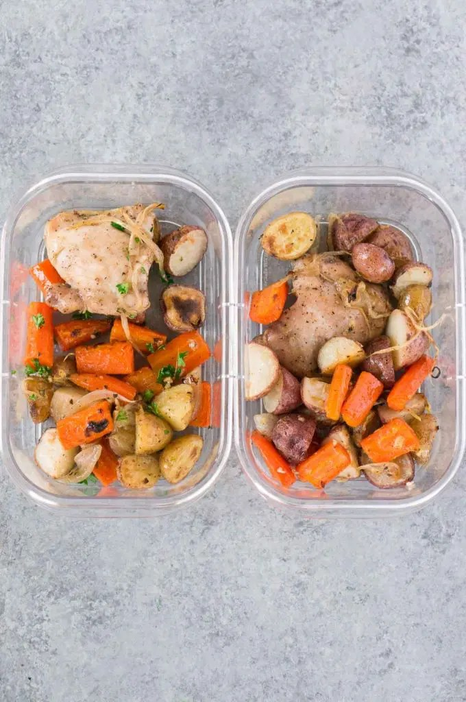 meal prep chicken and potatoes