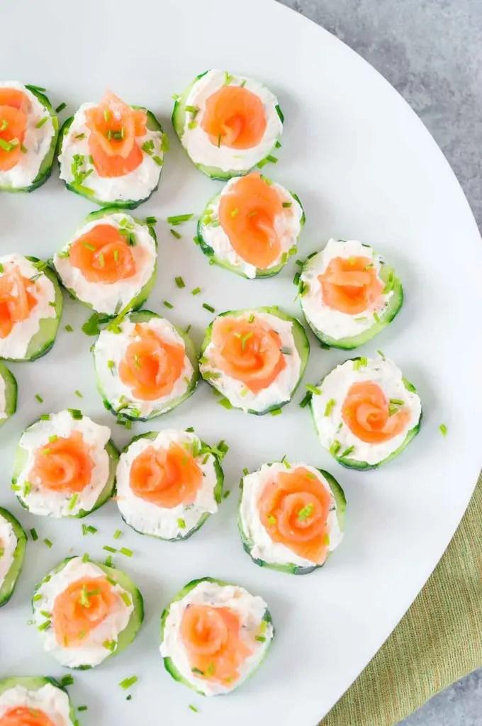 smoked salmon cream cheese cucumber appetizer