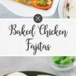 Baked Chicken Fajitas - long pin
