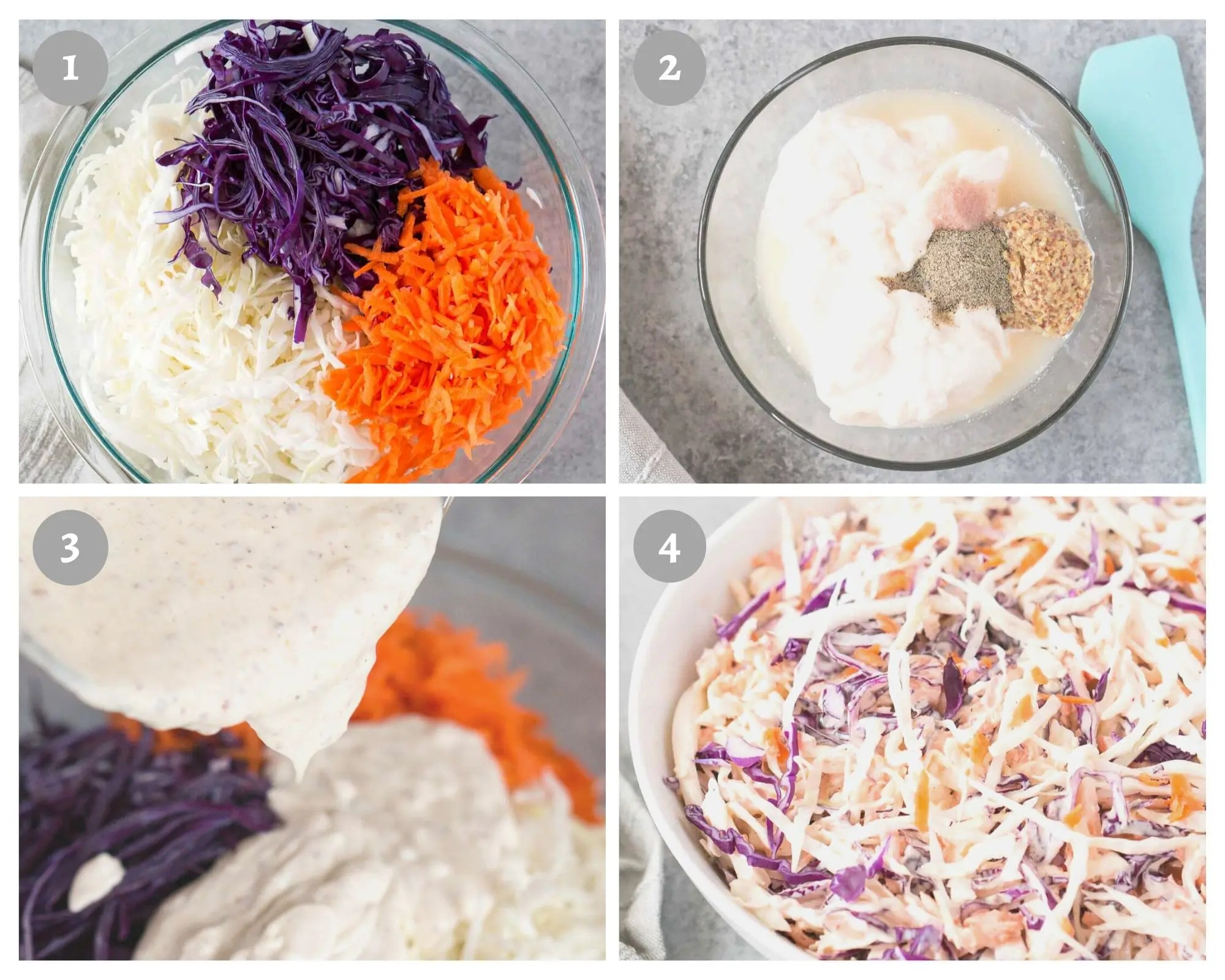 how to make coleslaw recipe process shots