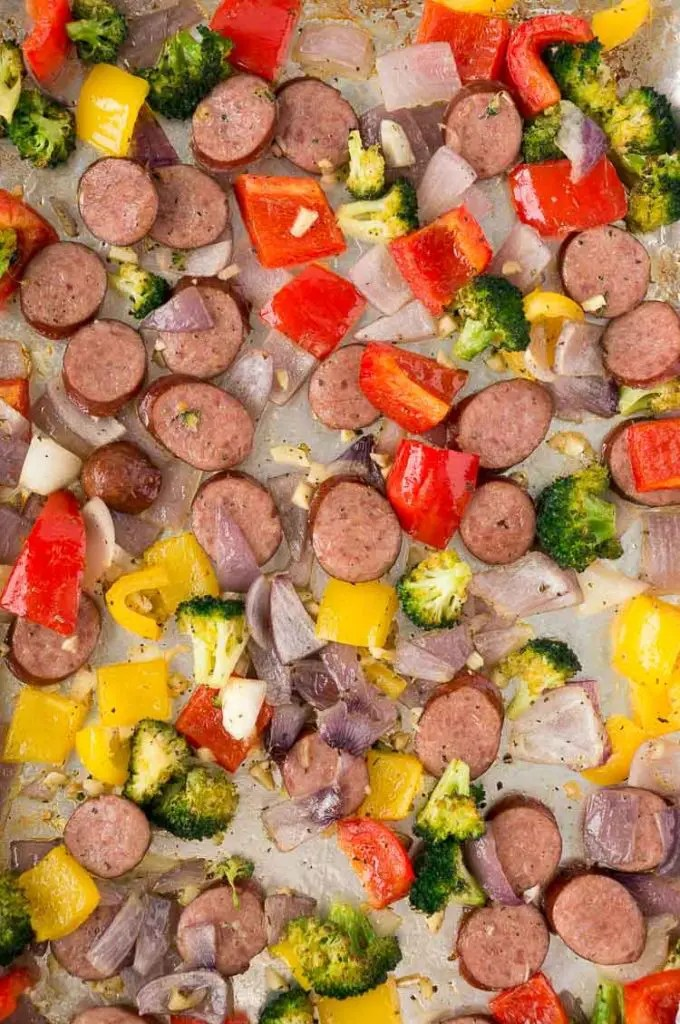 roasted vegetables and sausage recipe