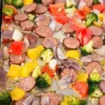 roasted vegetables and sausage recipe - low carb keto paleo whole30