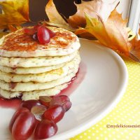 Buttermilk Pancakes with Grape jam syrup