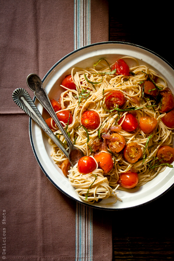 Spaghetti with Grape Tomatoes