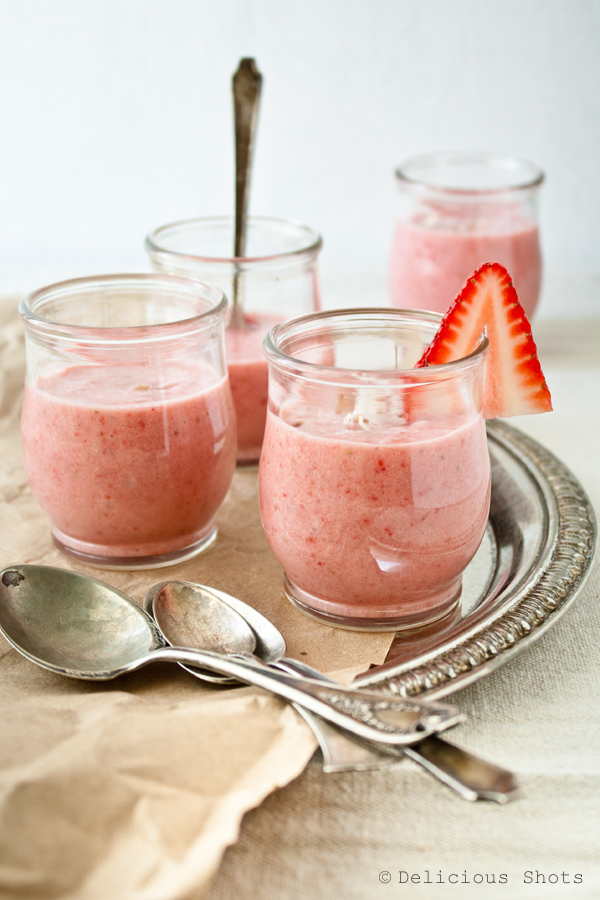 Chilled Strawberry and Coconut Milk Soup Shooters from The Recipe Girl Cookbook