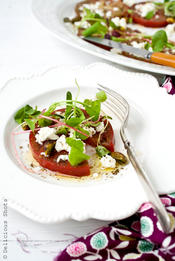 Heirloom Tomato Salad with Za'atar and Feta Cheese