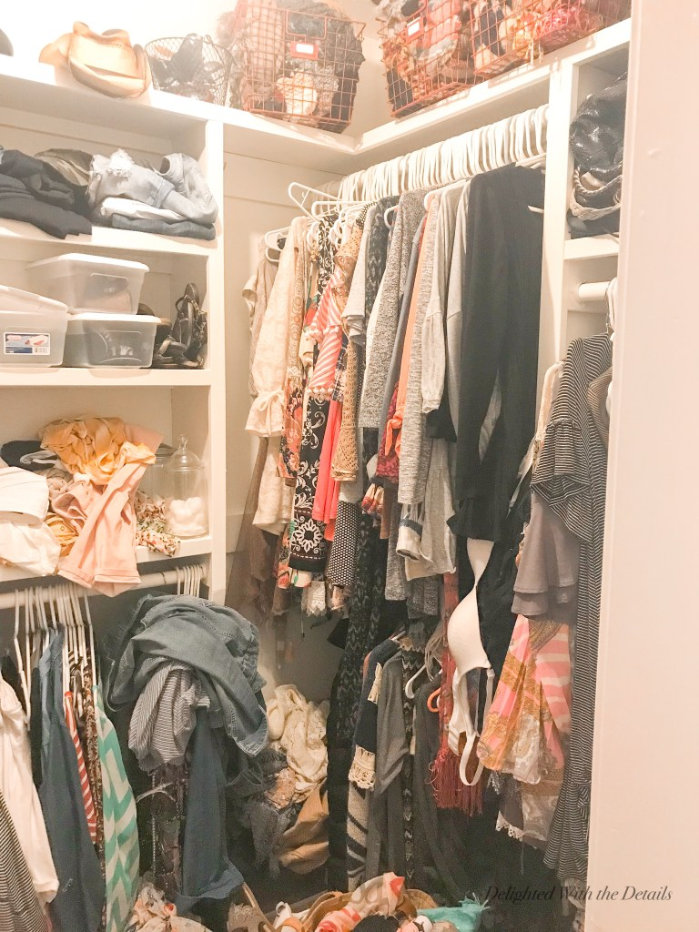 7 Tips for Organizing Your Closet - Delighted With The Details