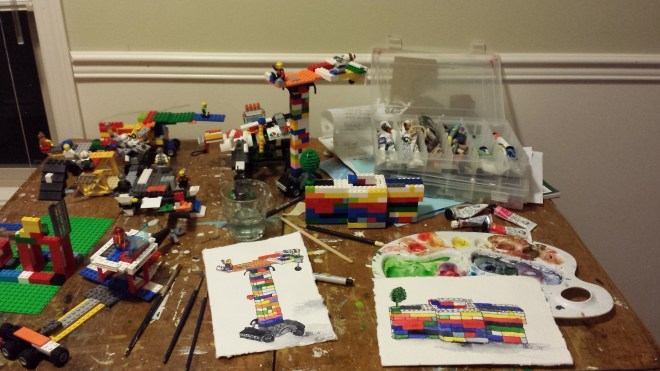 lego all over art table