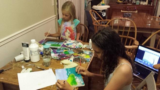 girls art lesson