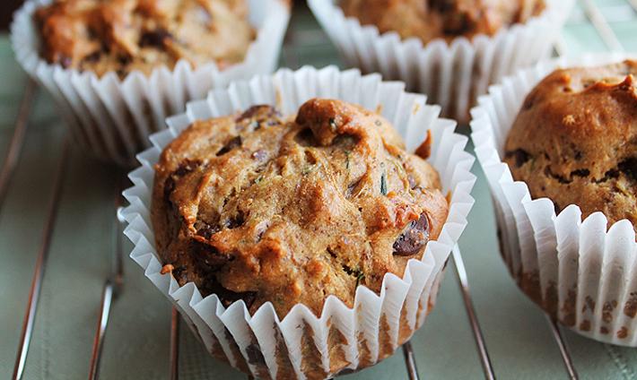 Vegan Gluten-Free Zucchini Chocolate Chip Muffins