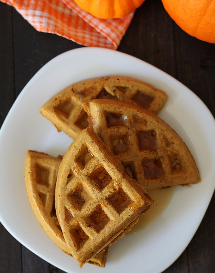 Make your family these Vegan Gluten Free Pumpkin Spice Waffles as a special treat and they will be sure to ask for more!
