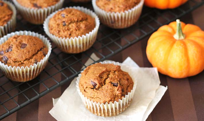 Vegan Gluten Free Pumpkin Spice Muffins