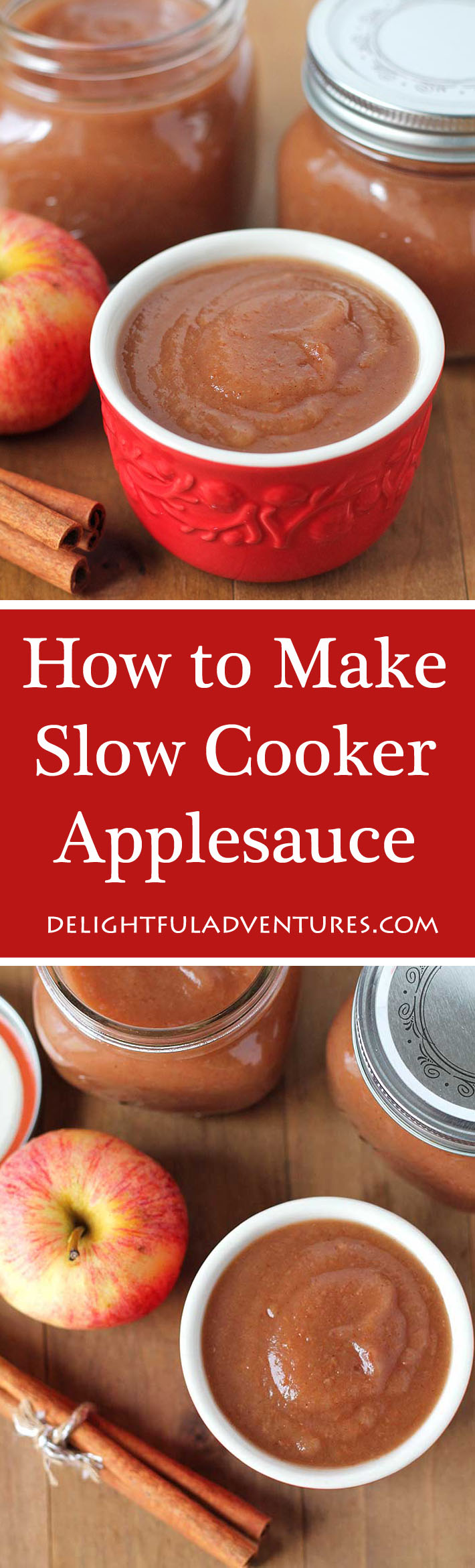 Once you get a taste of homemade slow cooker applesauce and see how easy it is to make, you won't want to buy store-bought applesauce ever again! #applesauce #slowcookerapplesauce, #homemadeapplesauce