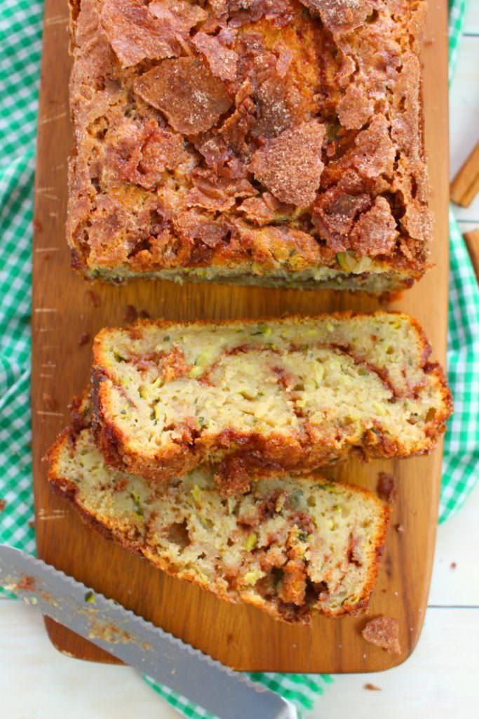 Cinnamon Swirl Zucchini Bread Recipe | Delightful E Made