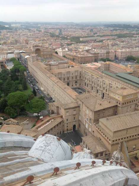 Vatican museums from cupola