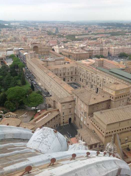 St Peter's dome - Vatican museums from cupola