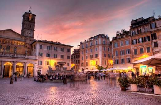 Rome in 5 days_Trastevere at sunset