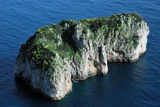 Capri walking itinerary - scoglio del monacone