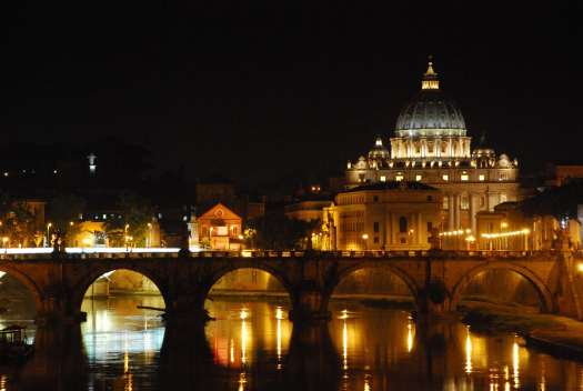 St Peter basilica at night