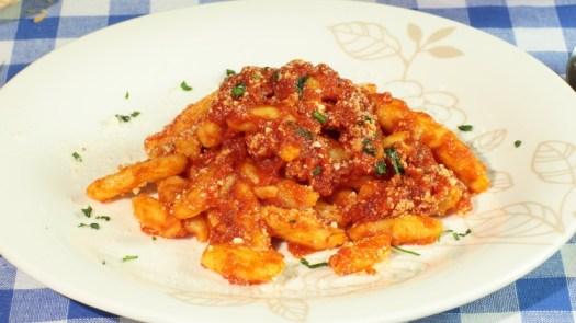 Italian pasta dishes - Cavatelli al sugo di maiale