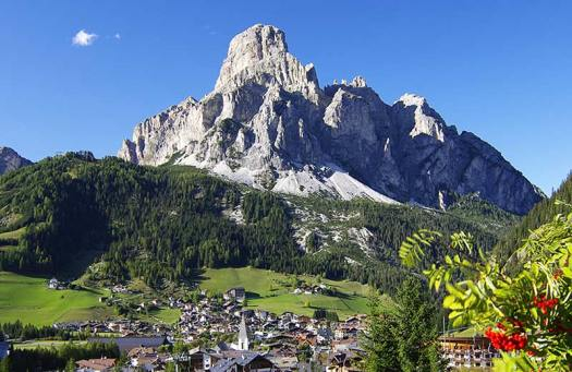 Visit the Dolomites - Corvara and the Sassongher mount