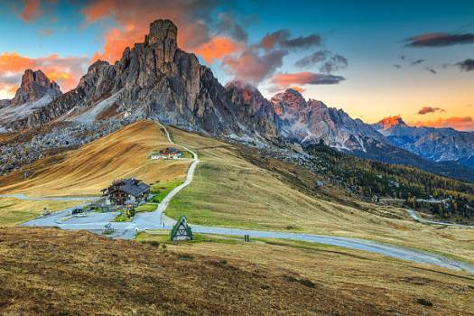 Visit the Dolomites - Dolomites view at sunset