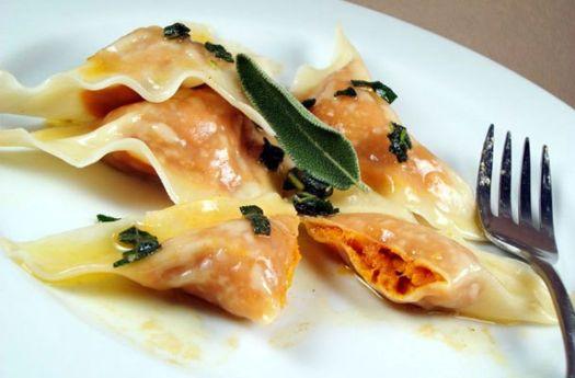 Italian pasta dishes - Tortelli di Zucca