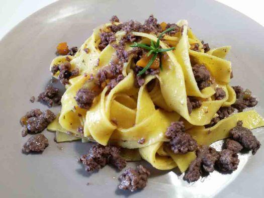 Italian pasta dishes - pappardelle al cinghiale