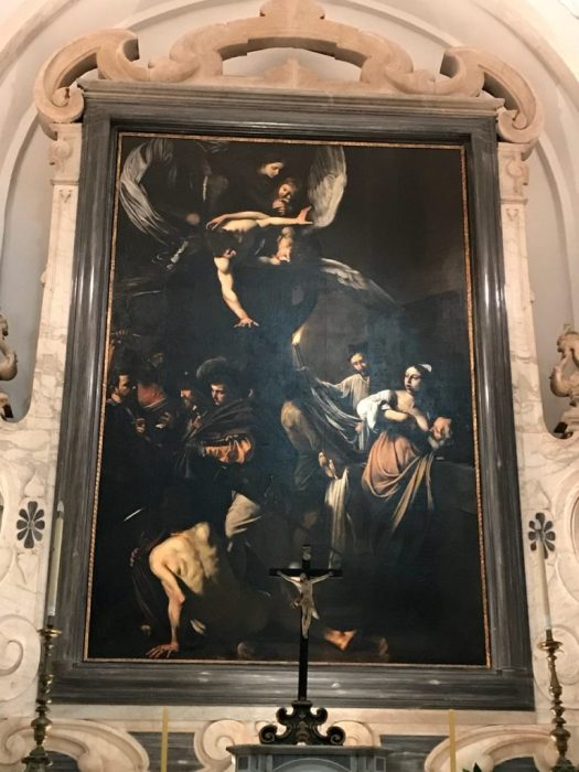 Naples in one day walking itinerary - Caravaggio painting