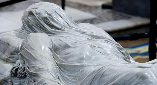Naples in one day walking itinerary - veiled Christ