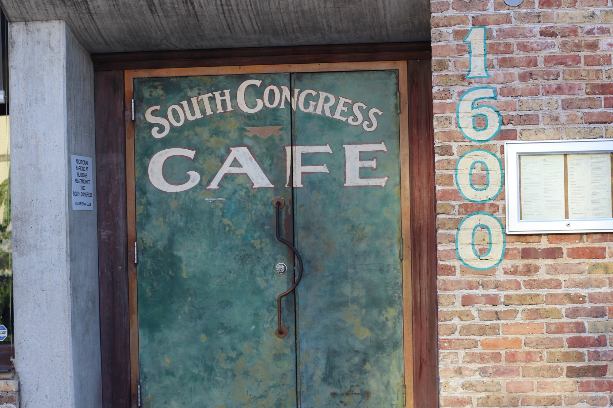 South Congress Cafe and Gourdough's Donuts……