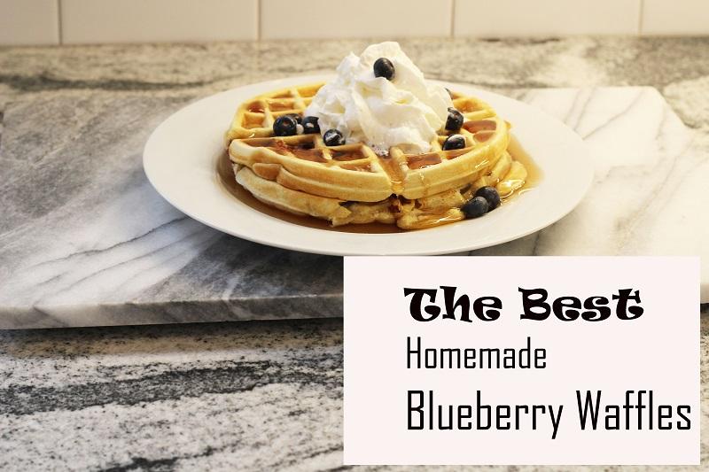The Best Homemade Blueberry Waffles….