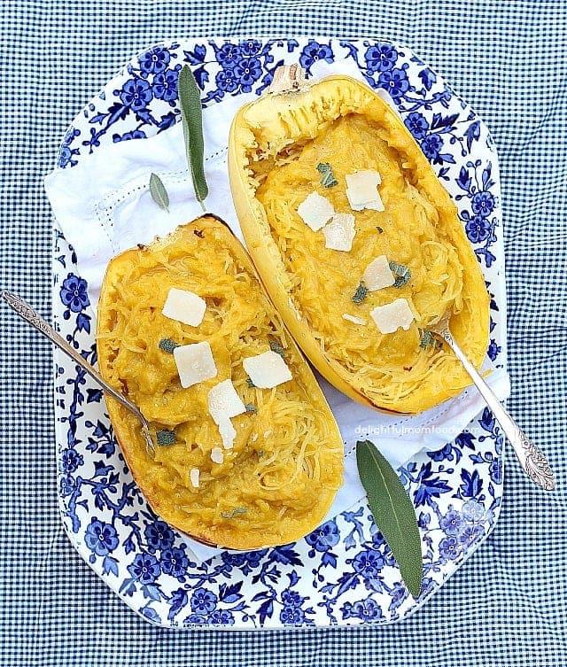 Spaghetti Squash Butternut Sauce Pasta