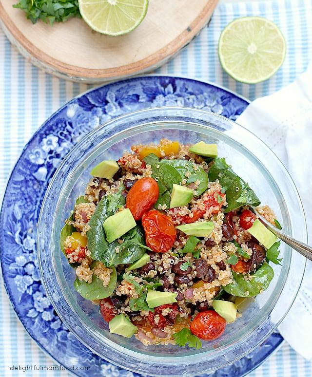 Skinny Roasted Vegetable Quinoa Salad